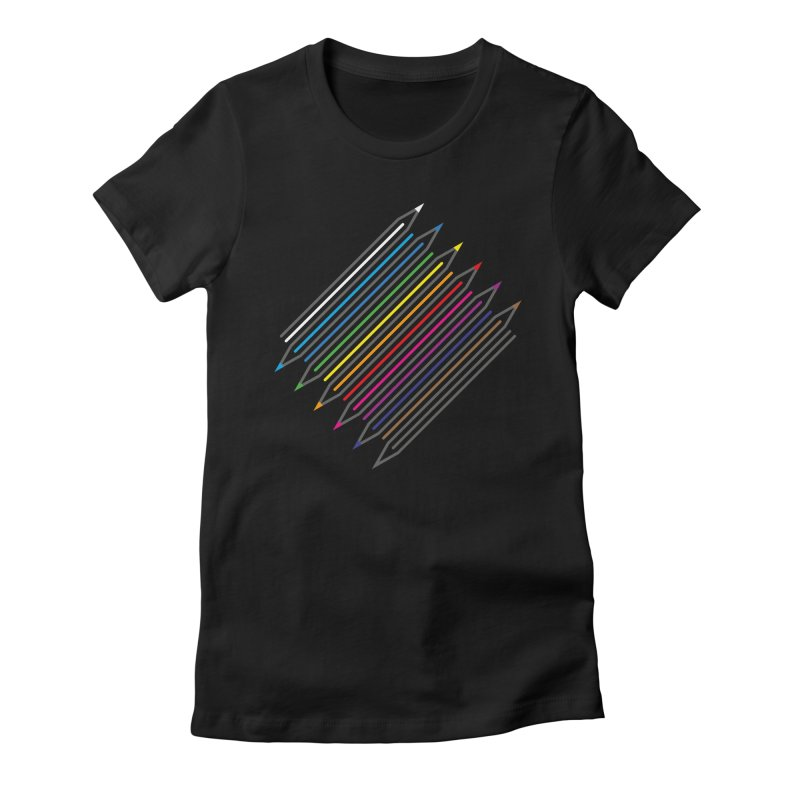 Pencil Collection Women's Fitted T-Shirt by Freehand