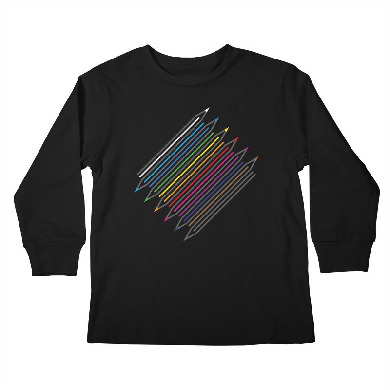 Pencil Collection Kids Longsleeve T-Shirt by Freehand