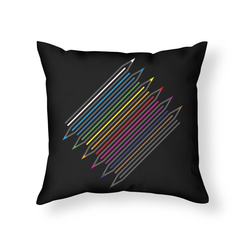 Pencil Collection Home Throw Pillow by Freehand