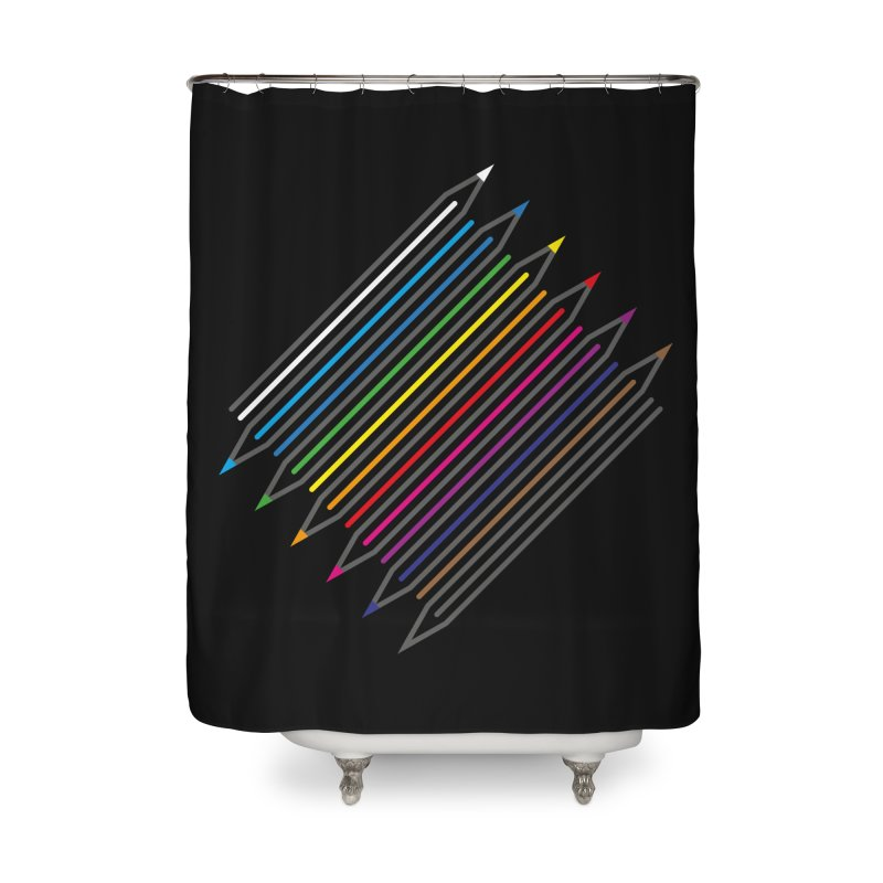 Pencil Collection Home Shower Curtain by Freehand