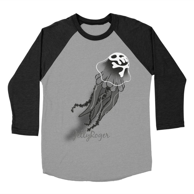 Jelly Roger Women's Baseball Triblend Longsleeve T-Shirt by Freehand