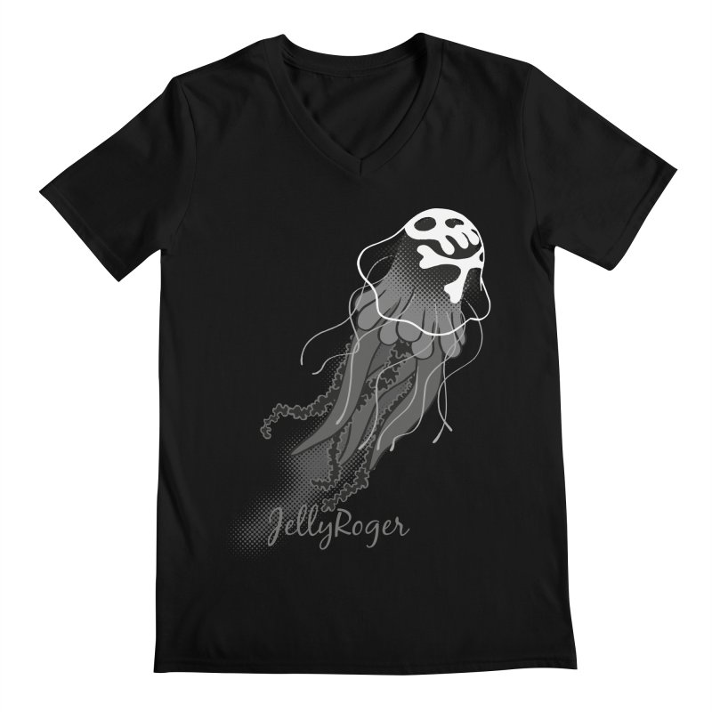 Jelly Roger Men's Regular V-Neck by Freehand