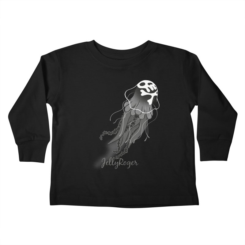 Jelly Roger Kids Toddler Longsleeve T-Shirt by Freehand