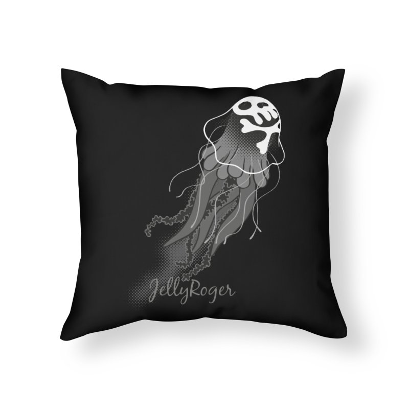 Jelly Roger Home Throw Pillow by Freehand