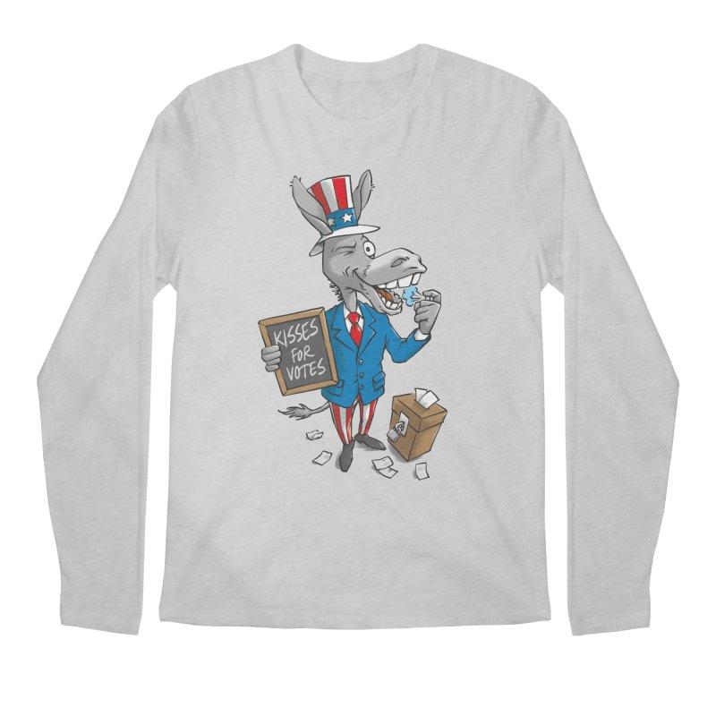 Ass Kisses Men's Longsleeve T-Shirt by Freehand