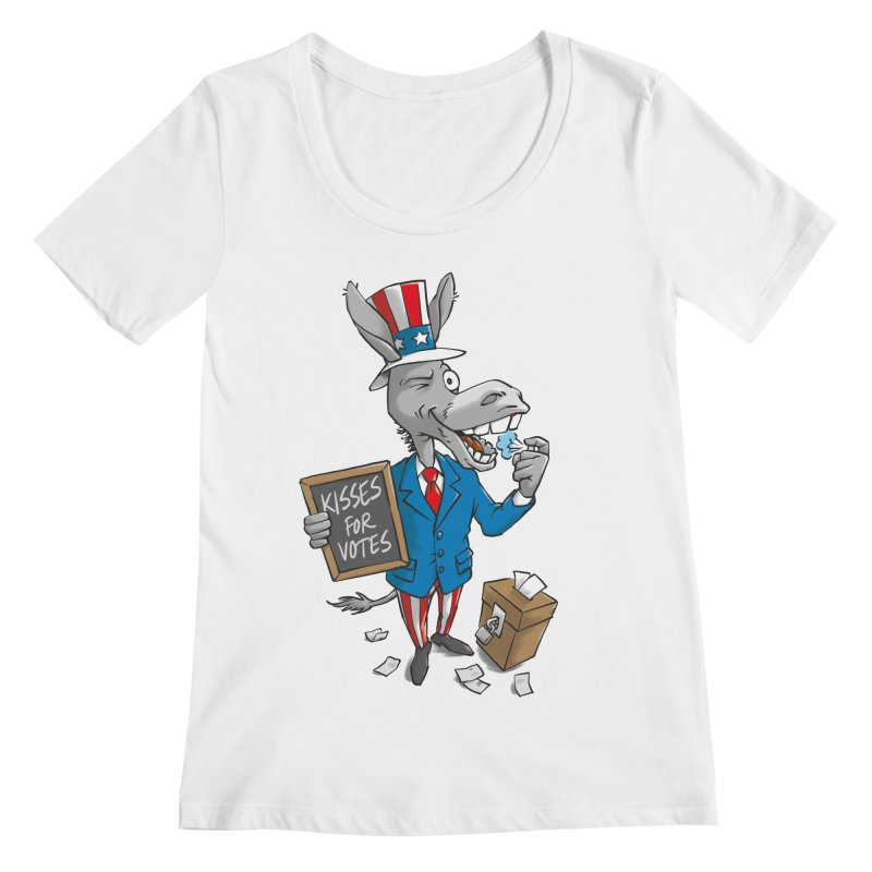 Ass Kisses Women's Scoopneck by Freehand