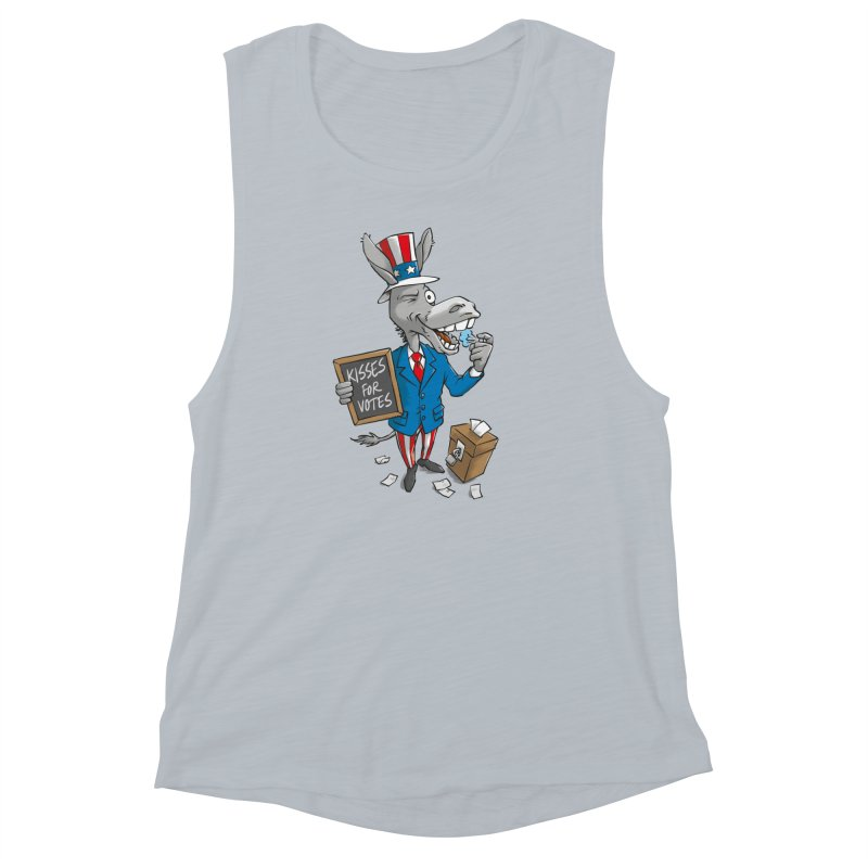 Ass Kisses Women's Muscle Tank by Freehand