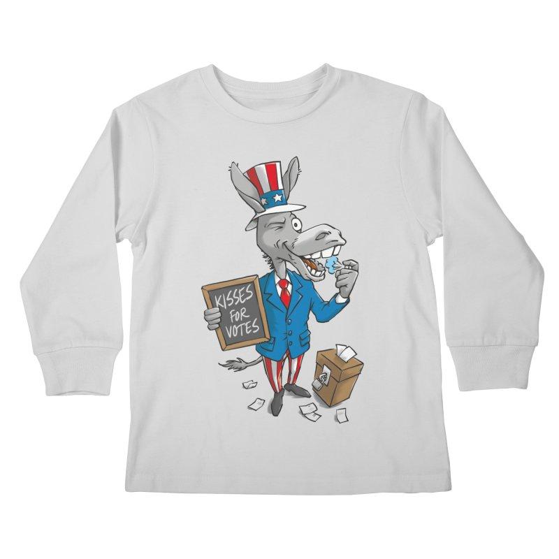 Ass Kisses Kids Longsleeve T-Shirt by Freehand