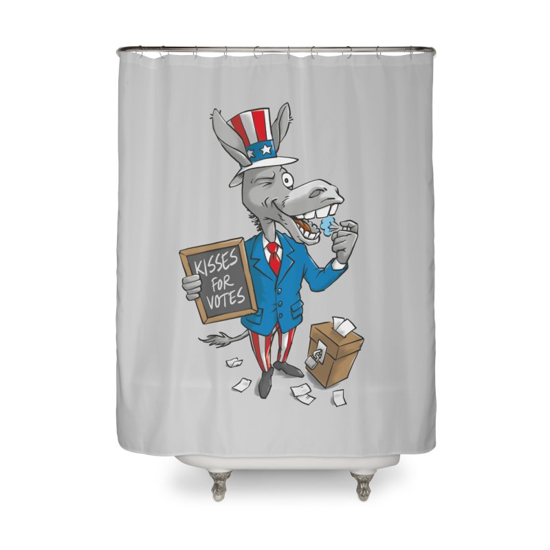 Ass Kisses Home Shower Curtain by Freehand
