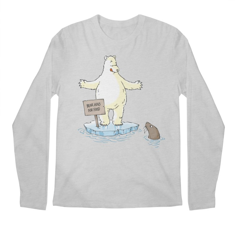 Bear Hugs For Food Men's Longsleeve T-Shirt by Freehand