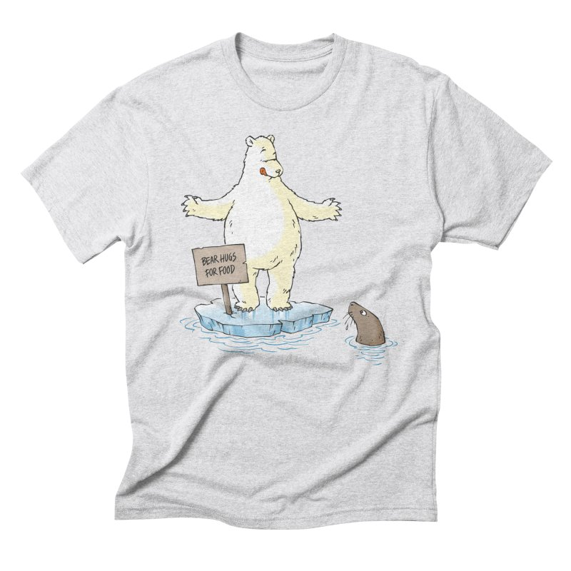 Bear Hugs For Food Men's Triblend T-Shirt by Freehand