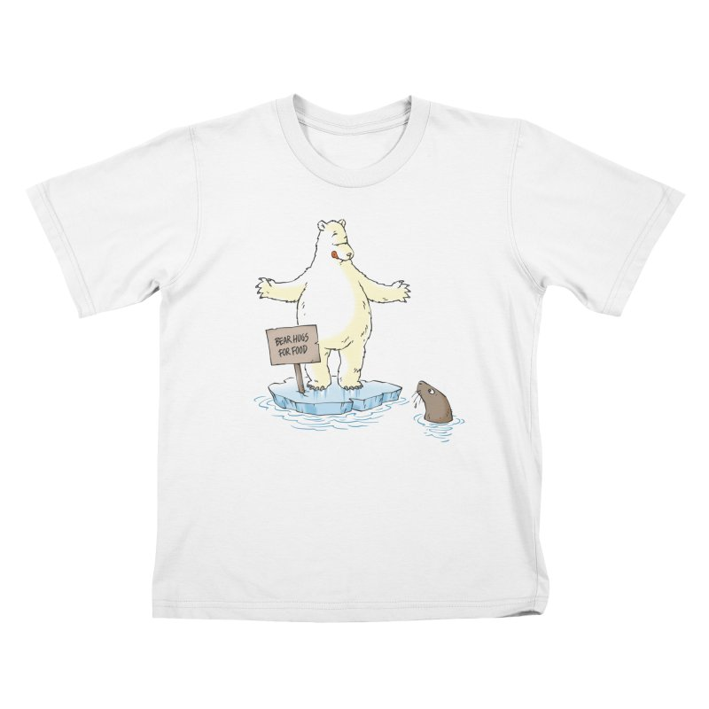 Bear Hugs For Food Kids T-Shirt by Freehand