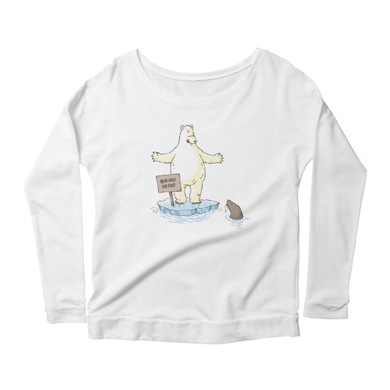 Bear Hugs For Food Women's Longsleeve Scoopneck  by Freehand