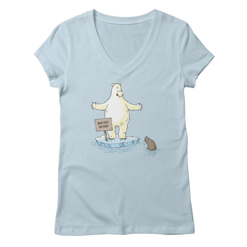 Bear Hugs For Food Women's V-Neck by Freehand