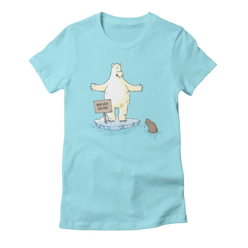 Bear Hugs For Food Women's Fitted T-Shirt by Freehand