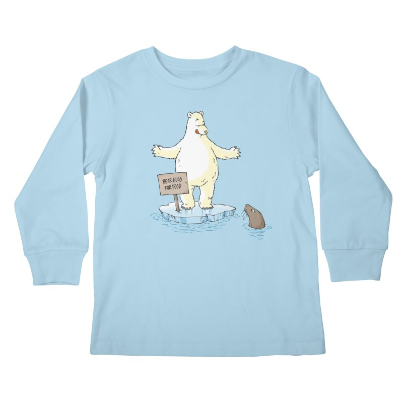 Bear Hugs For Food Kids Longsleeve T-Shirt by Freehand