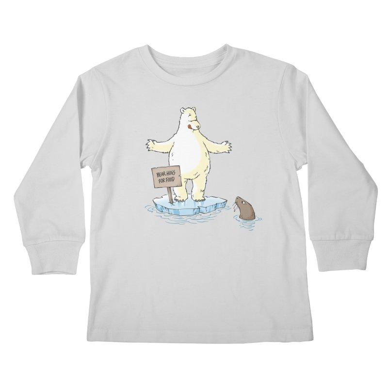 Bear Hugs For Food Kids Longsleeve T-Shirt by Freehand