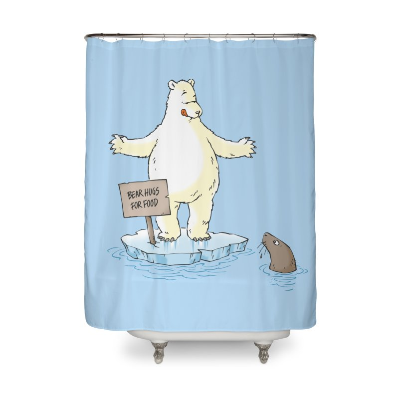 Bear Hugs For Food Home Shower Curtain by Freehand