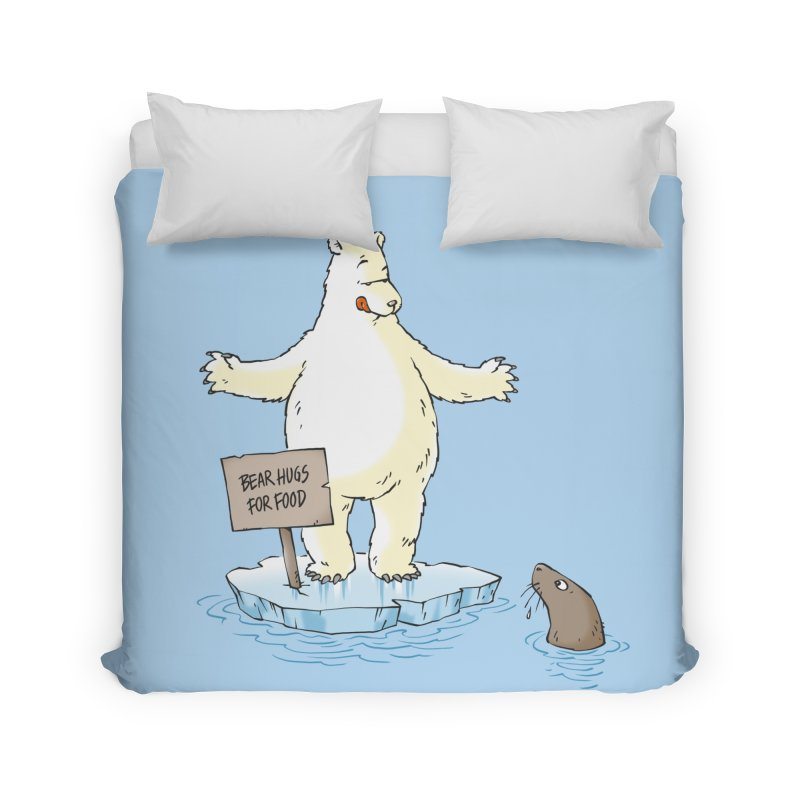 Bear Hugs For Food Home Duvet by Freehand