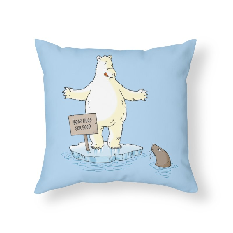 Bear Hugs For Food Home Throw Pillow by Freehand