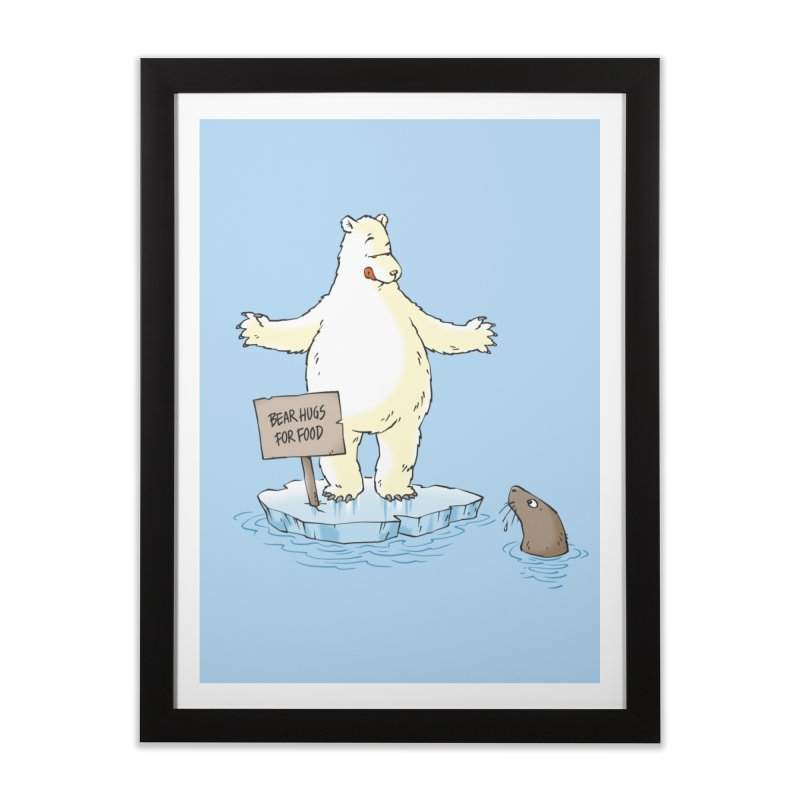 Bear Hugs For Food Home Framed Fine Art Print by Freehand