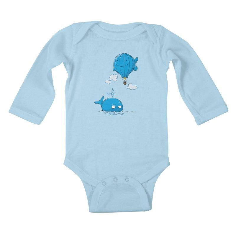 Floating Envy Kids Baby Longsleeve Bodysuit by Freehand