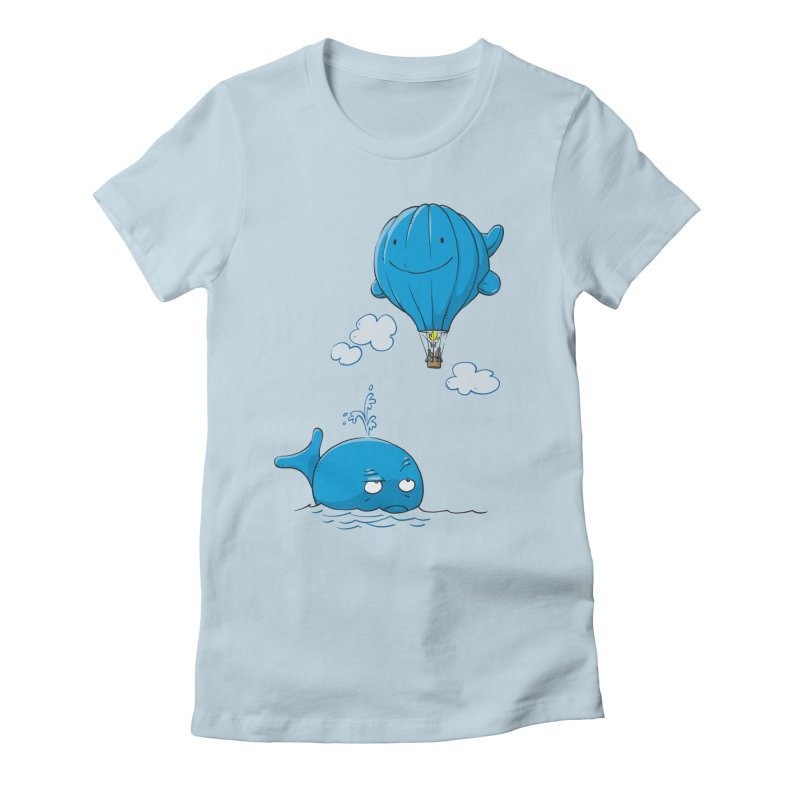 Floating Envy Women's Fitted T-Shirt by Freehand