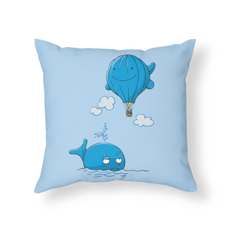 Floating Envy Home Throw Pillow by Freehand