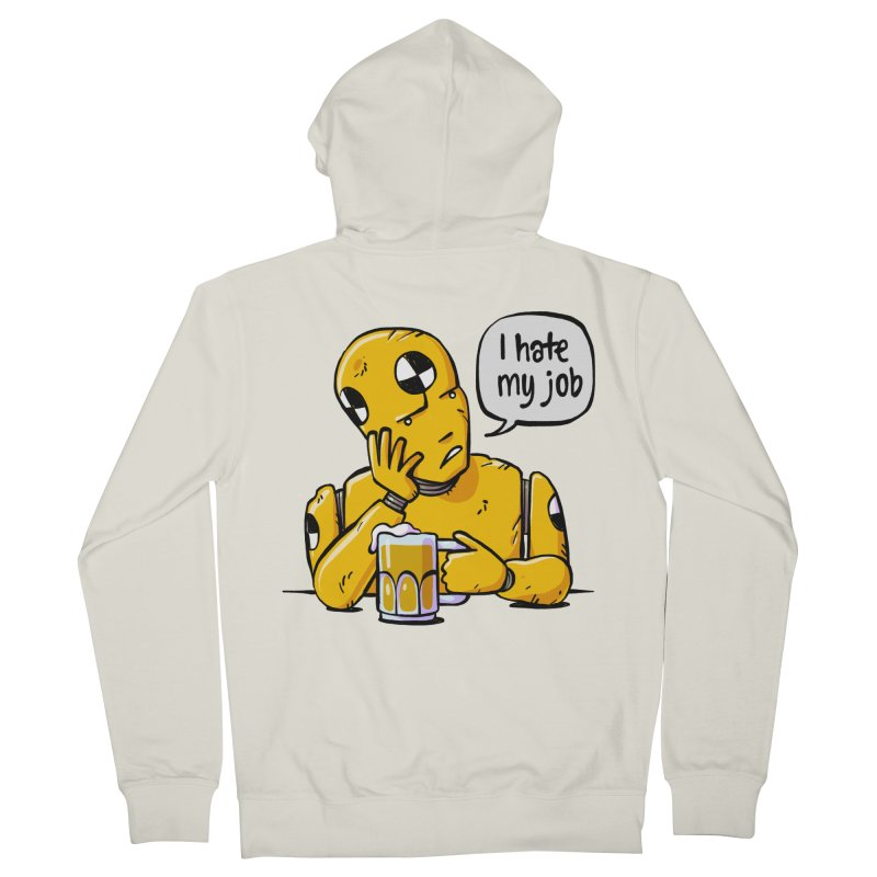 Unhappy Hour Men's French Terry Zip-Up Hoody by Freehand