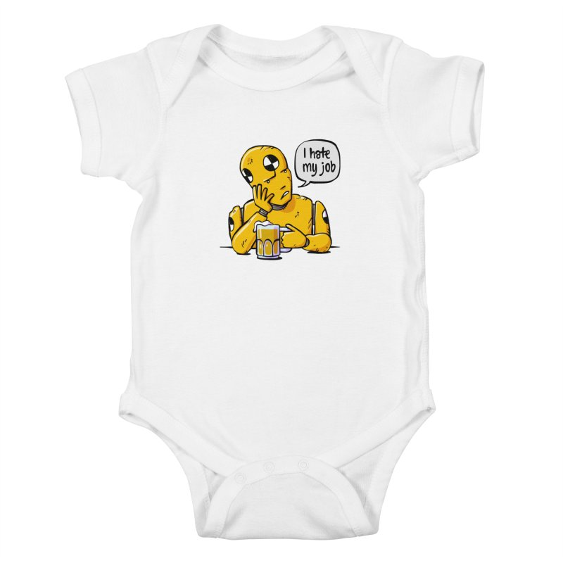 Unhappy Hour Kids Baby Bodysuit by Freehand