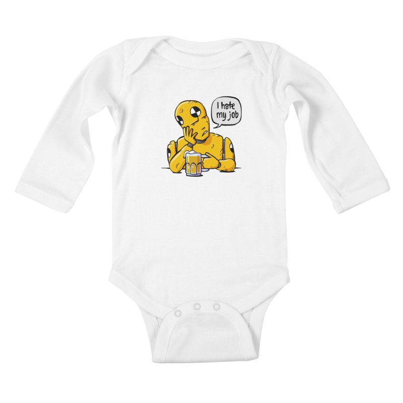 Unhappy Hour Kids Baby Longsleeve Bodysuit by Freehand