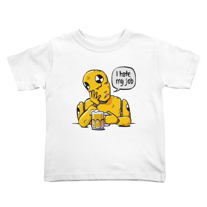 Unhappy Hour Kids Toddler T-Shirt by Freehand
