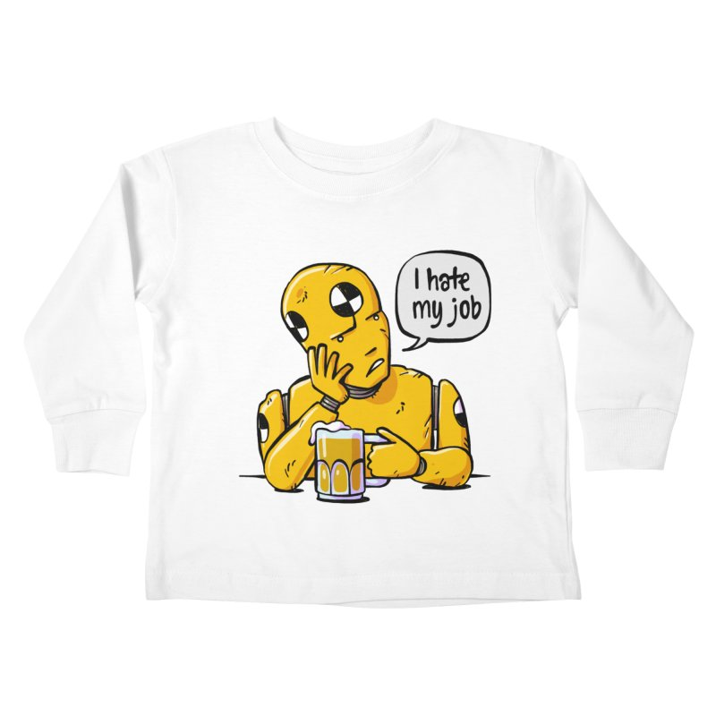 Unhappy Hour Kids Toddler Longsleeve T-Shirt by Freehand