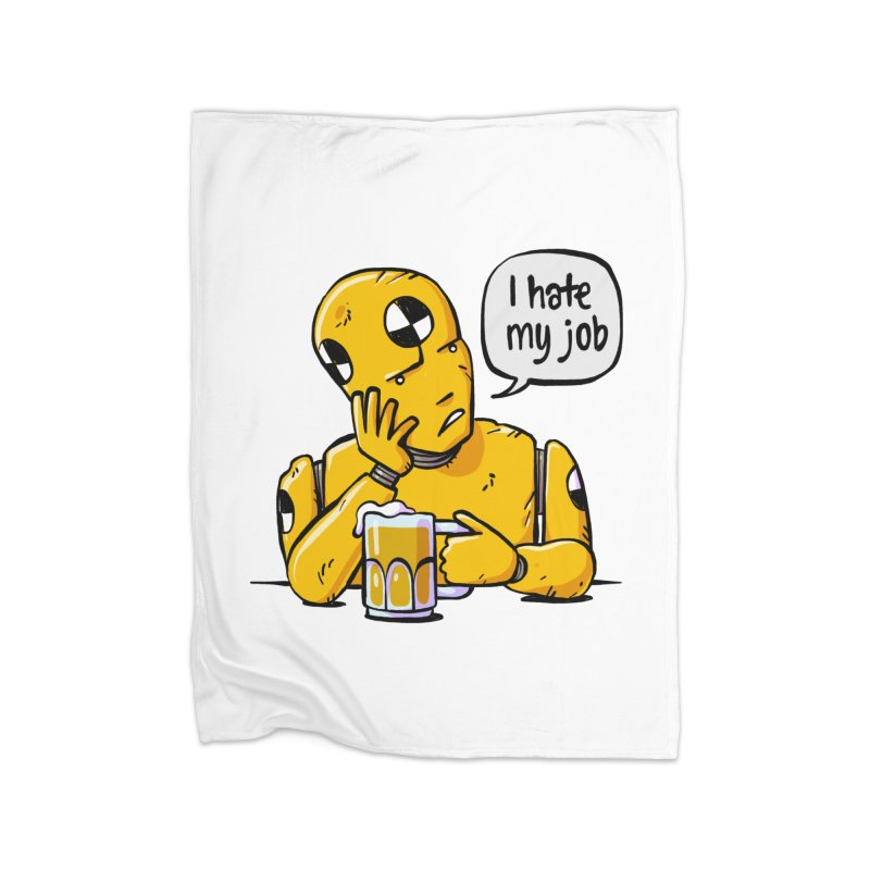 Unhappy Hour Home Fleece Blanket Blanket by Freehand