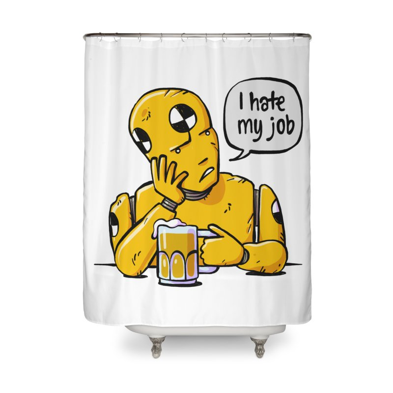 Unhappy Hour Home Shower Curtain by Freehand