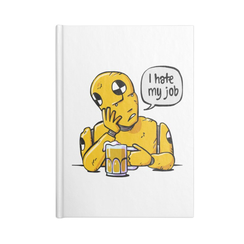 Unhappy Hour Accessories Blank Journal Notebook by Freehand
