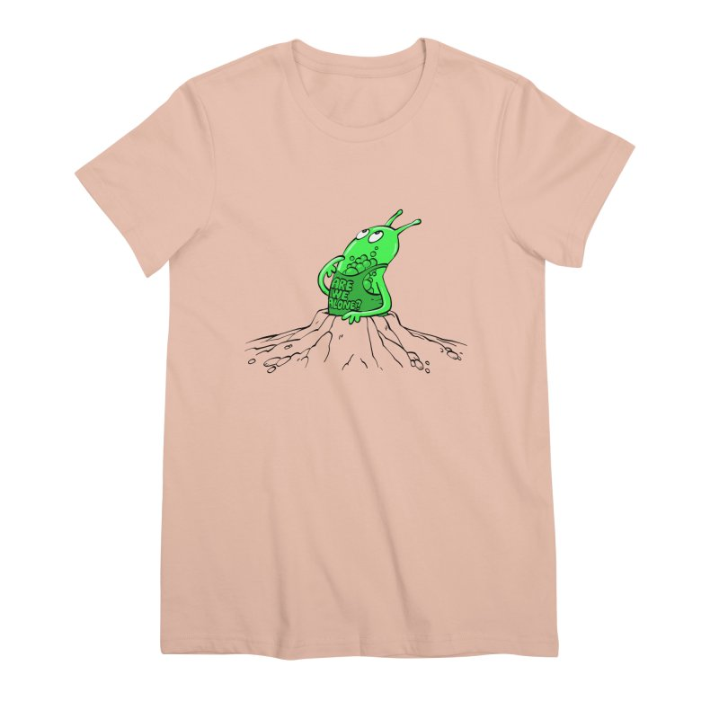 Are We Alone? Women's Premium T-Shirt by Freehand