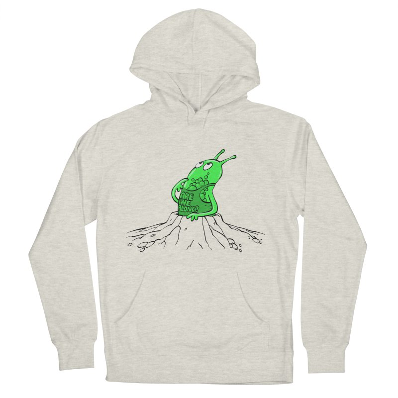 Are We Alone? Men's French Terry Pullover Hoody by Freehand