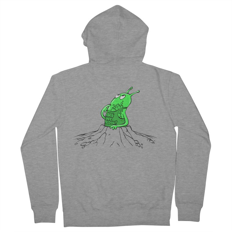 Are We Alone? Men's French Terry Zip-Up Hoody by Freehand