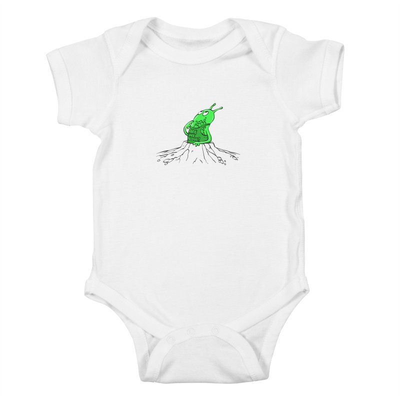 Are We Alone? Kids Baby Bodysuit by Freehand