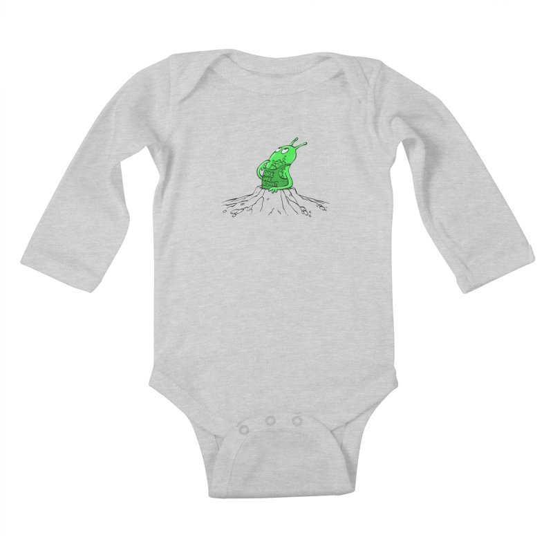 Are We Alone? Kids Baby Longsleeve Bodysuit by Freehand