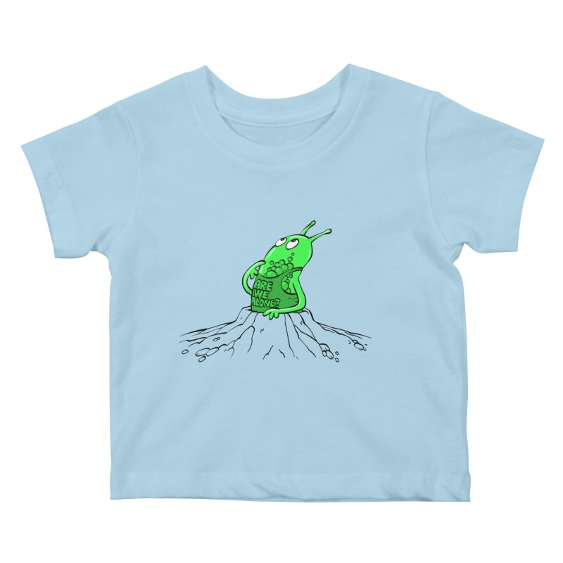 Are We Alone? Kids Baby T-Shirt by Freehand