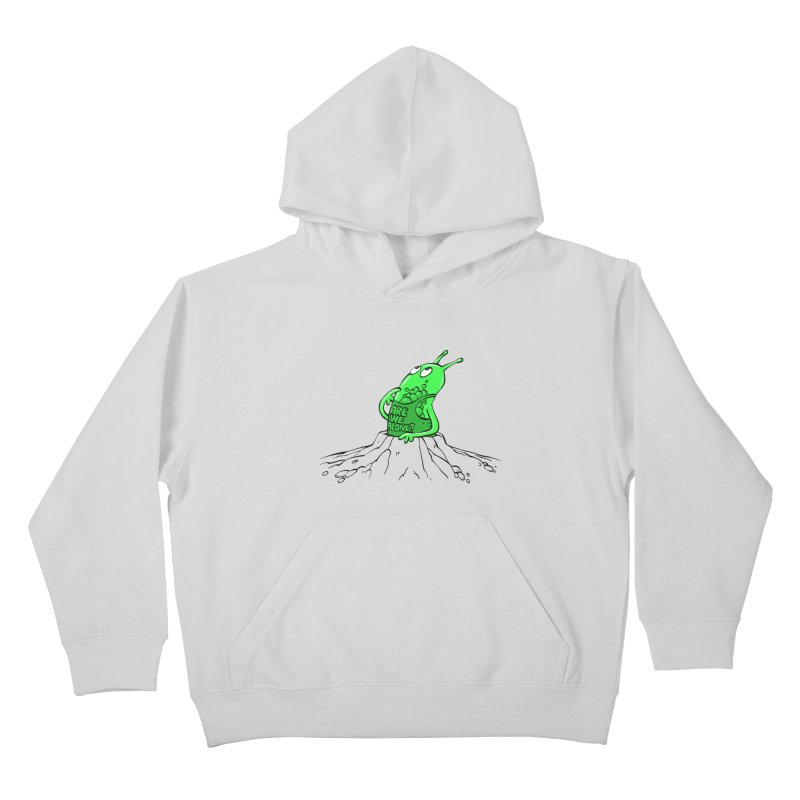 Are We Alone? Kids Pullover Hoody by Freehand