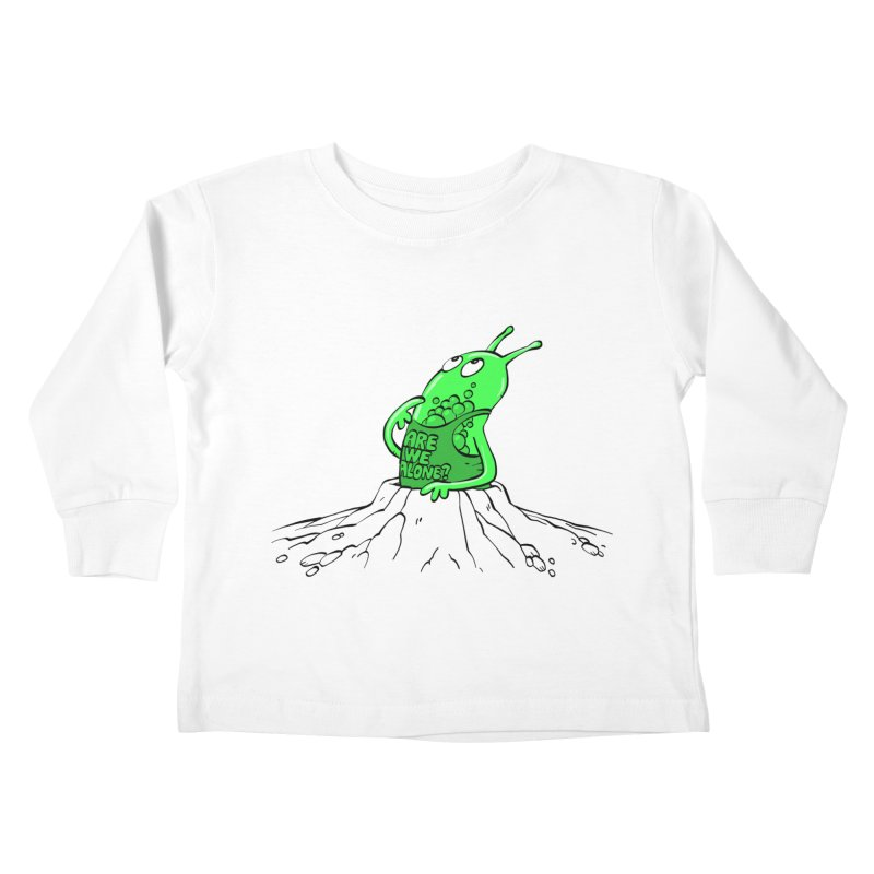 Are We Alone? Kids Toddler Longsleeve T-Shirt by Freehand