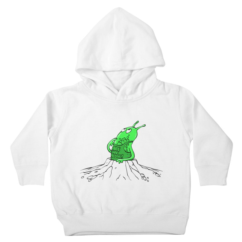 Are We Alone? Kids Toddler Pullover Hoody by Freehand