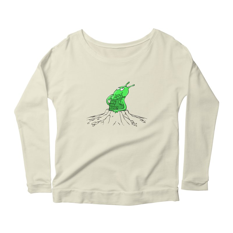 Are We Alone? Women's Scoop Neck Longsleeve T-Shirt by Freehand