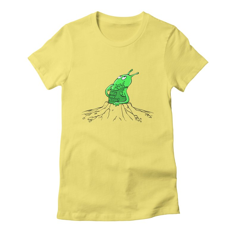 Are We Alone? Women's Fitted T-Shirt by Freehand