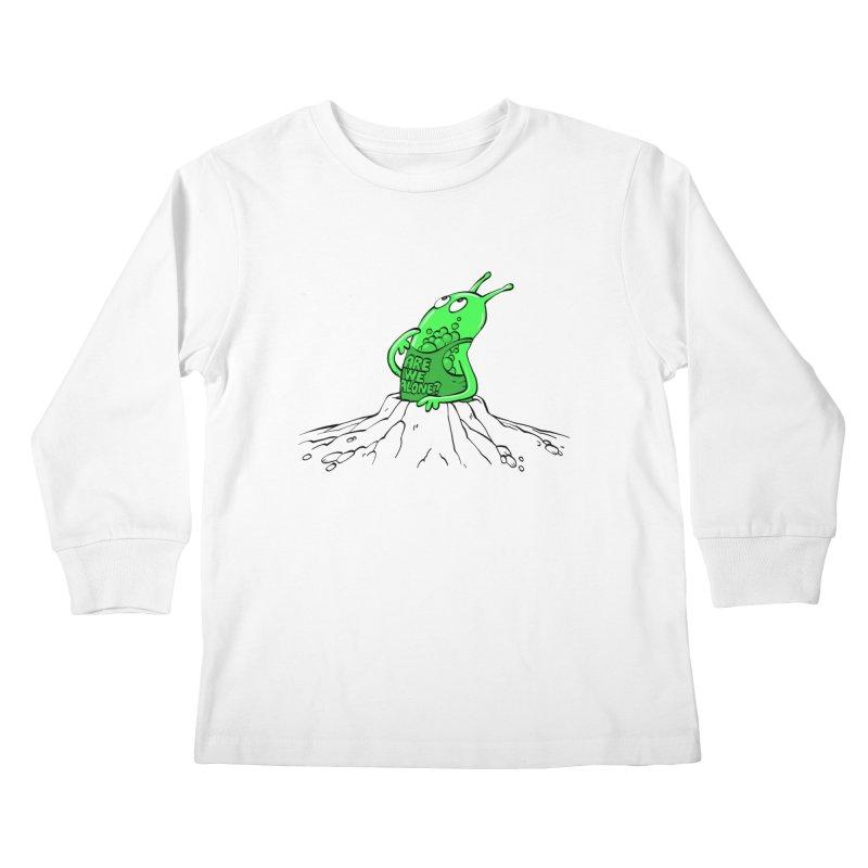 Are We Alone? Kids Longsleeve T-Shirt by Freehand