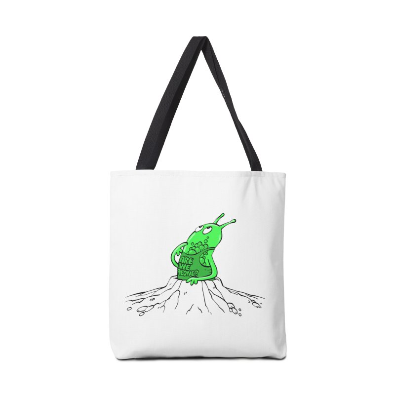 Are We Alone? Accessories Tote Bag Bag by Freehand