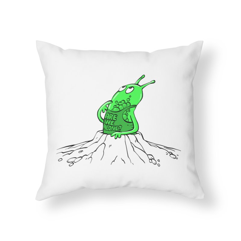 Are We Alone? Home Throw Pillow by Freehand